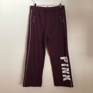 Victoria's Secret PINK Maroon Boyfriend Sweatpants
